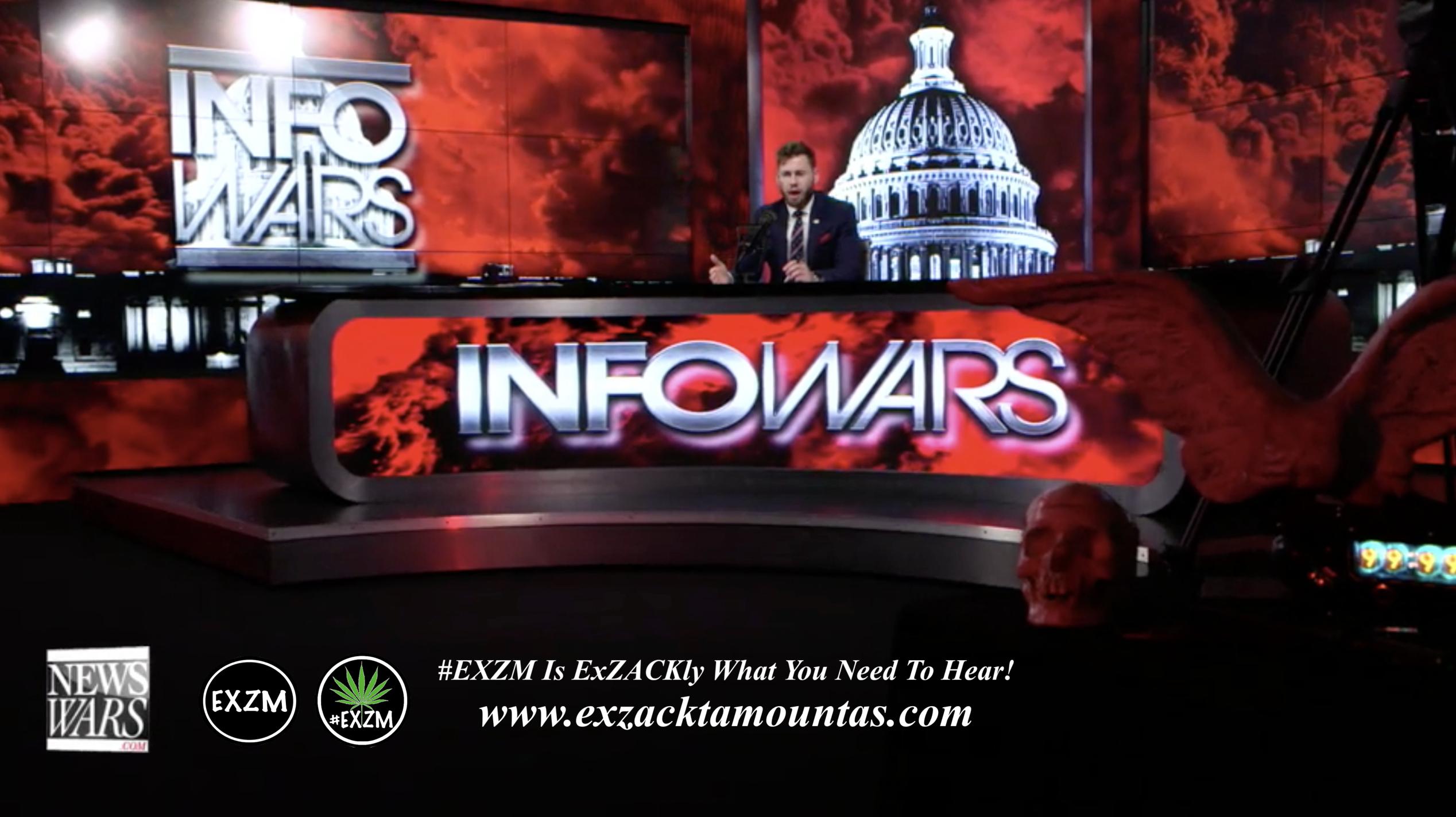 Owen Shroyer Live In Infowars Studio Human Skull Angel Wings EXZM Zack Mount May 20th 2021 copy