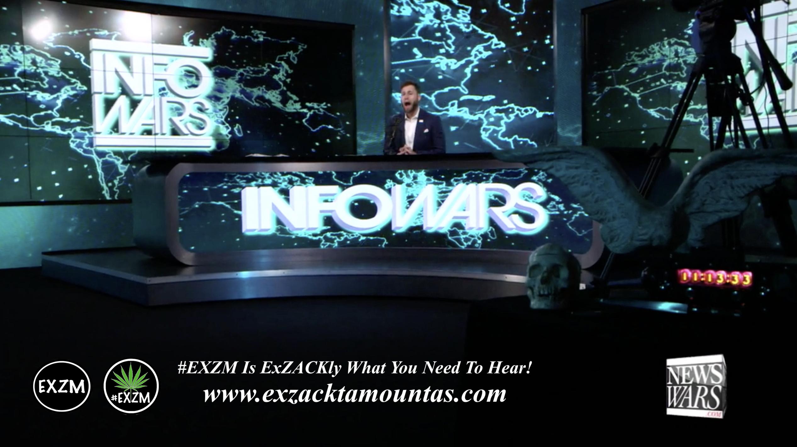 Owen Shroyer Live In Infowars Studio Human Skull Angel Wings EXZM Zack Mount May 21st 2021 copy