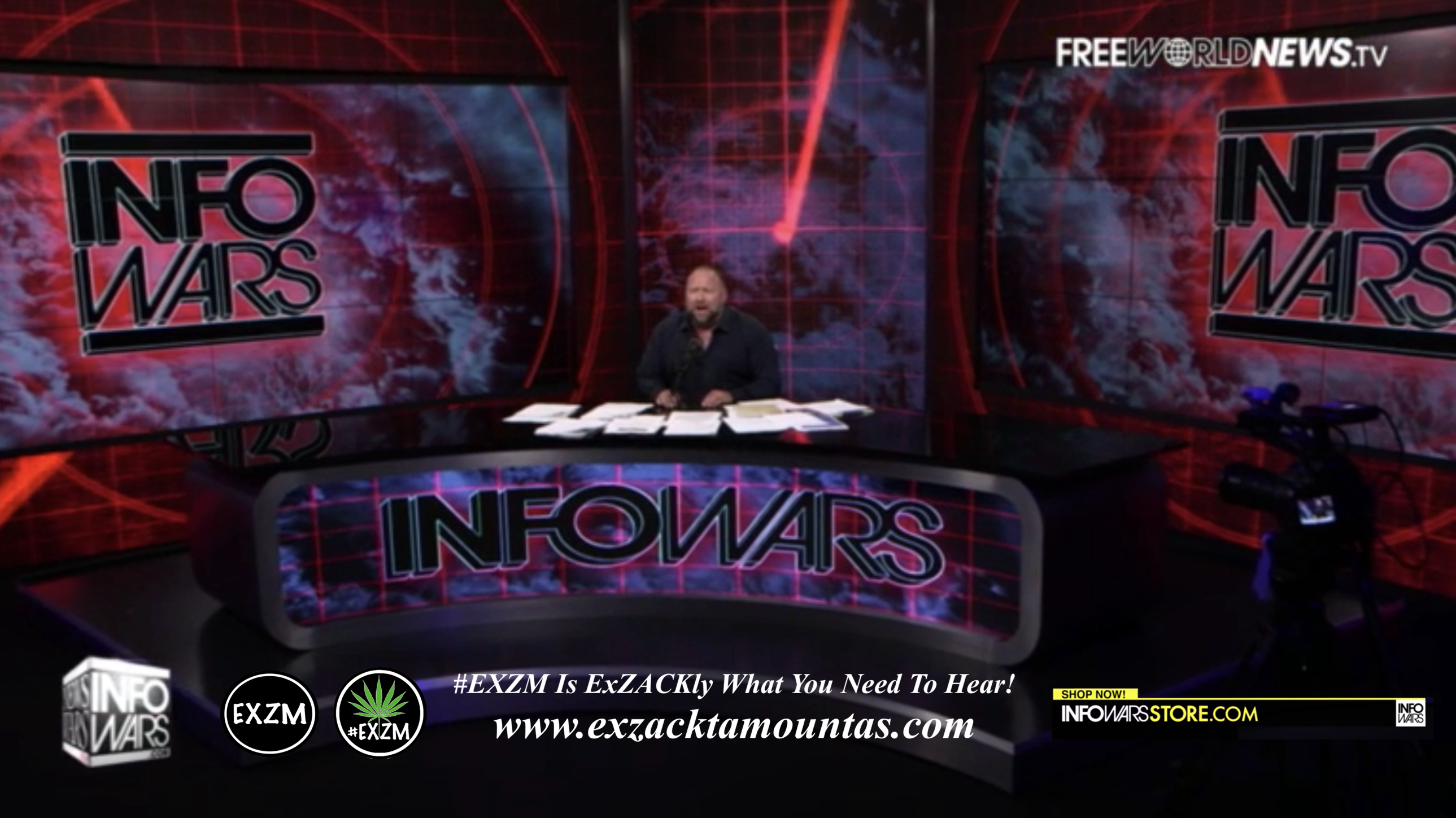 Alex Jones Live In Infowars Studio Free World News TV EXZM Zack Mount June 28th 2021 copy