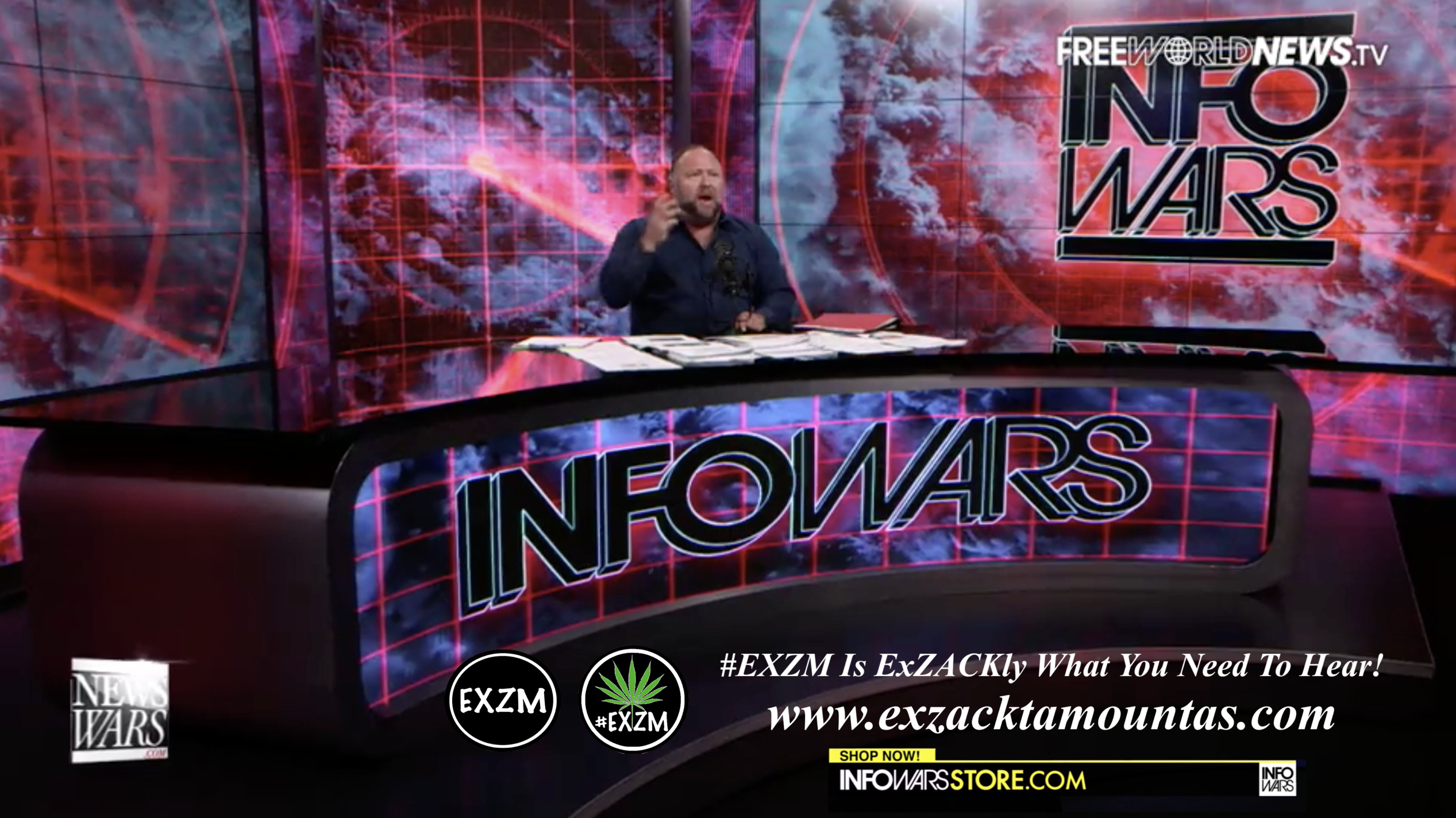 Alex Jones Live In Infowars Studio Free World News TV EXZM Zack Mount June 29th 2021 copy