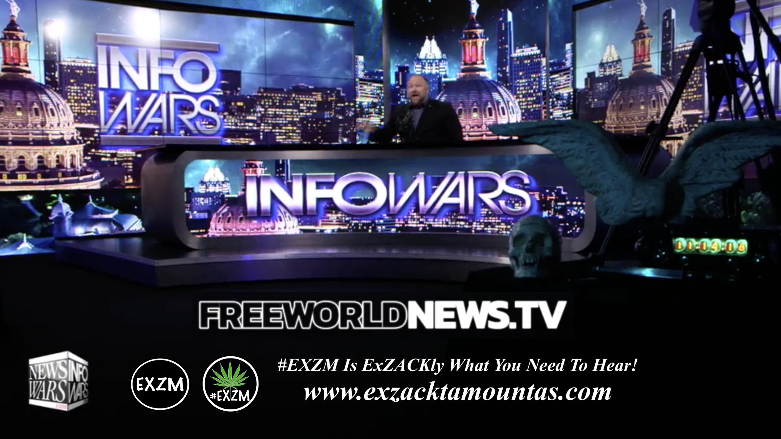 Alex Jones Live In Infowars Studio Human Skull Angel Wings Dagger Free World News TV EXZM Zack Mount June 17th 2021 copy