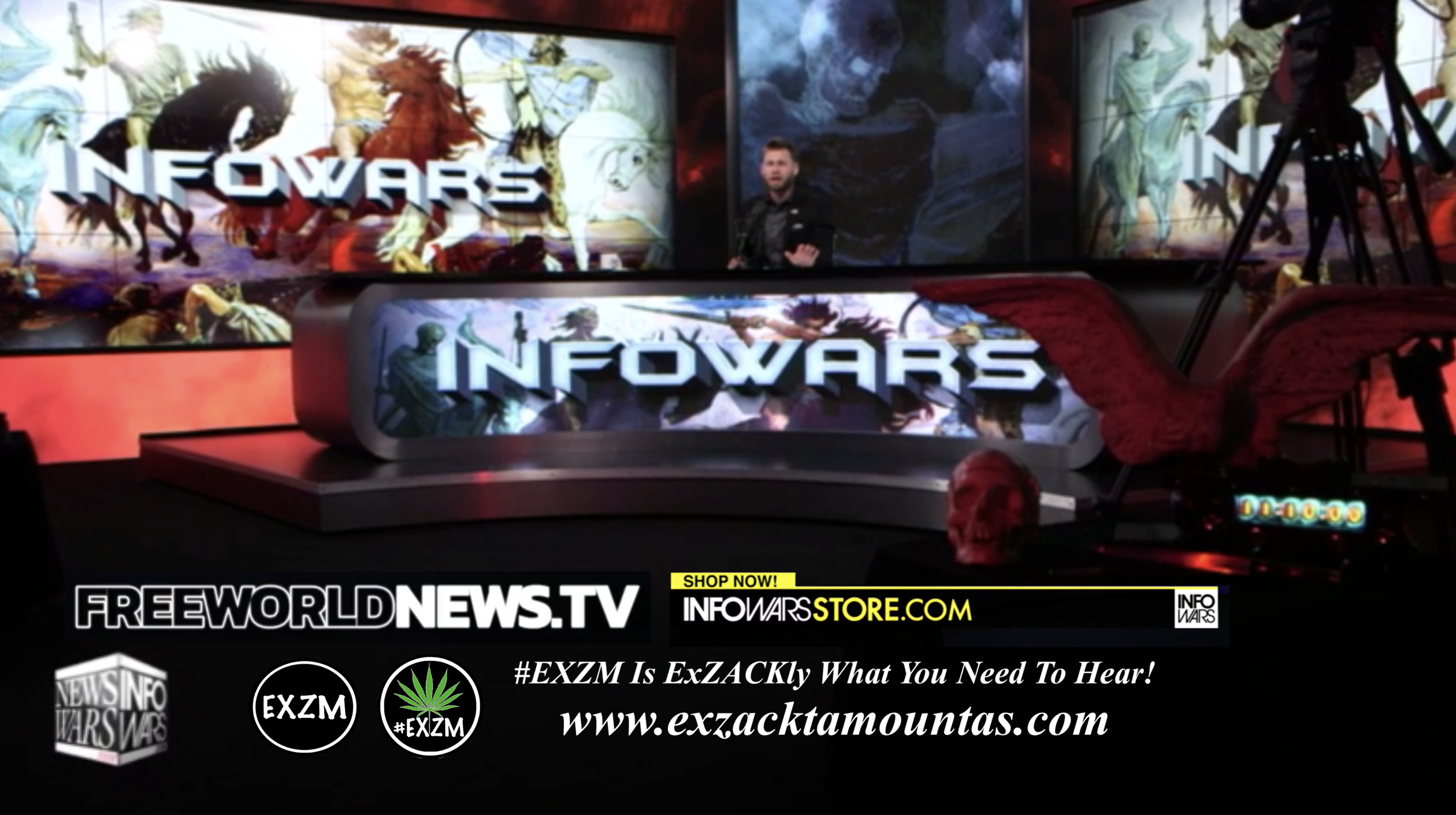 Owen Shroyer Alex Jones Live In Infowars Studio Free World News TV EXZM Zack Mount June 22nd 2021 copy