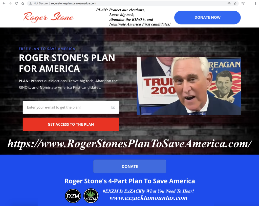 ROGER STONE'S FREE PLAN TO SAVE AMERICA EXZM Zack Mount June 10th 2021 copy