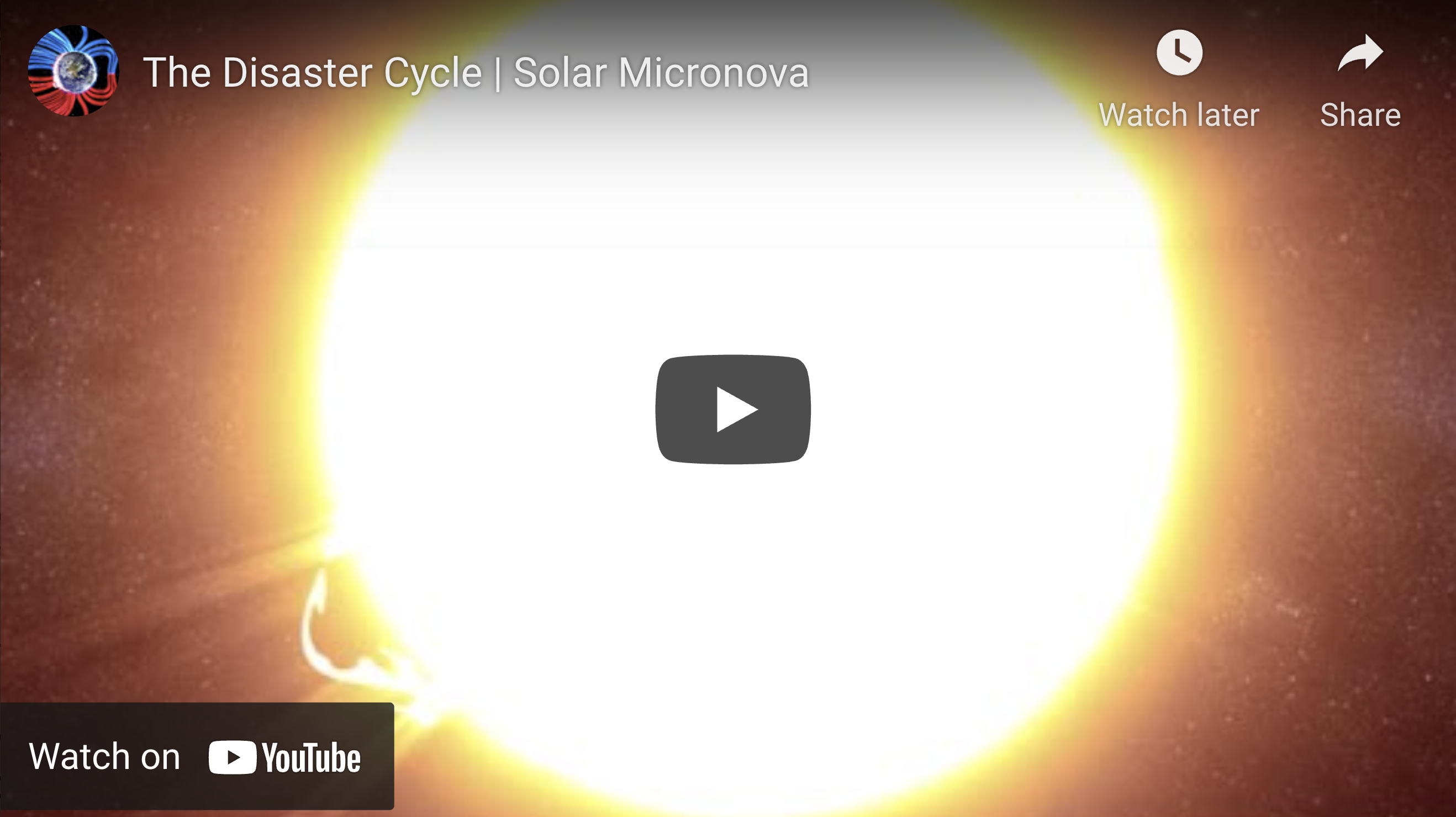 Suspicious Observers Post EXZM Zack Mount May 31st 2021 The Disaster Cycle Solar Micronova
