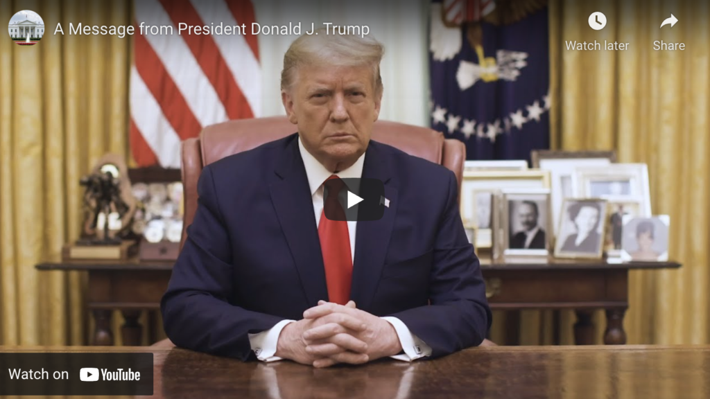 A Message from President Donald J Trump EXZM Zack Mount January 13th 2021