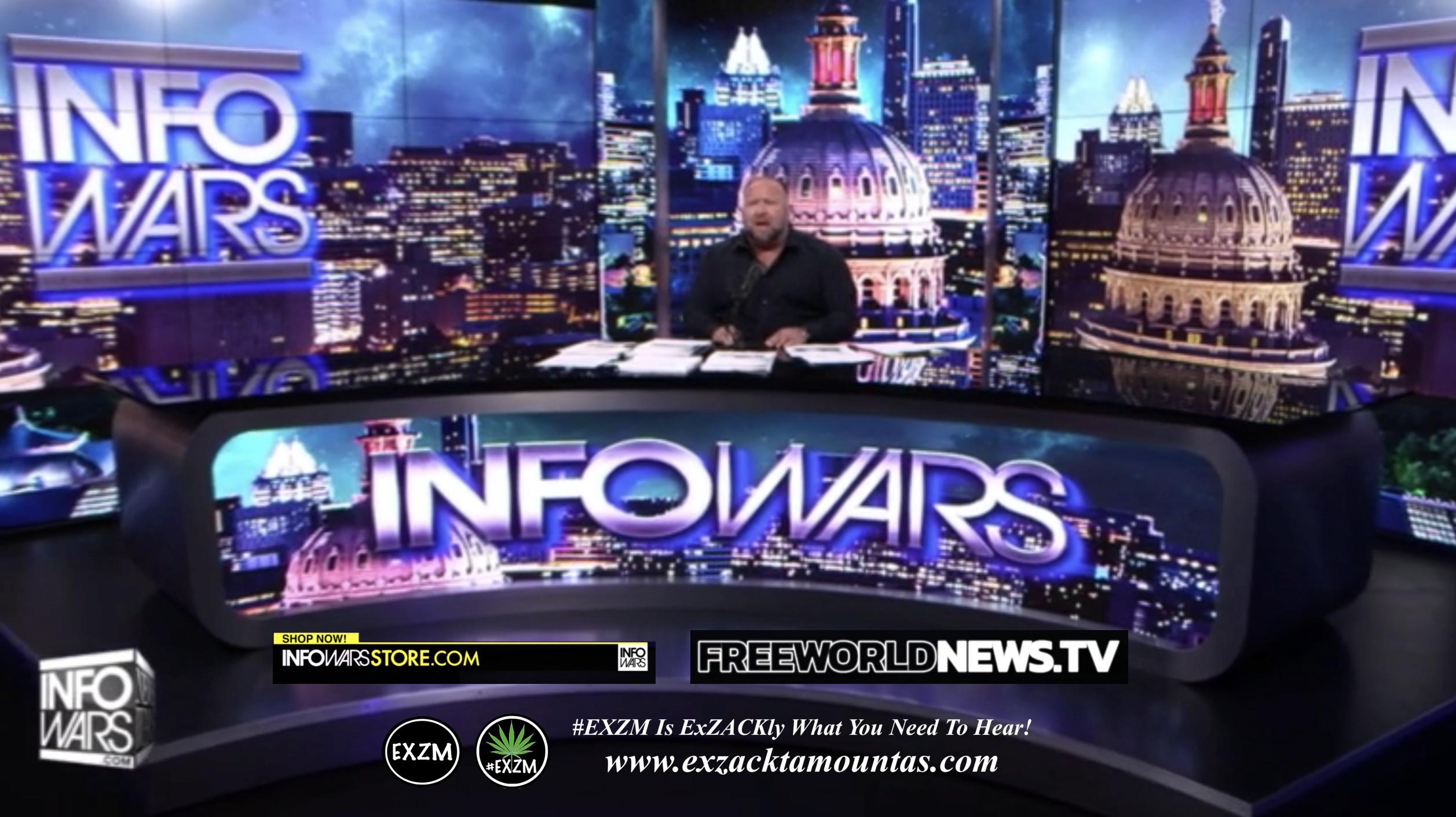 Alex Jones Live In Infowars Studio Free World News TV EXZM Zack Mount July 11th 2021 copy