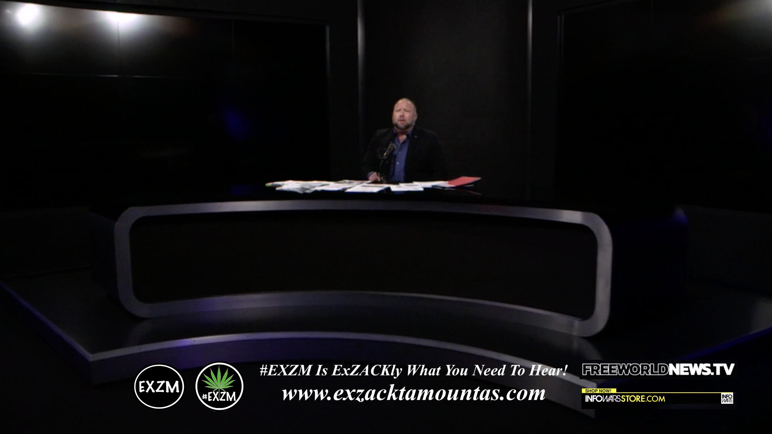 Alex Jones Live In Infowars Studio Free World News TV EXZM Zack Mount July 12th 2021 copy
