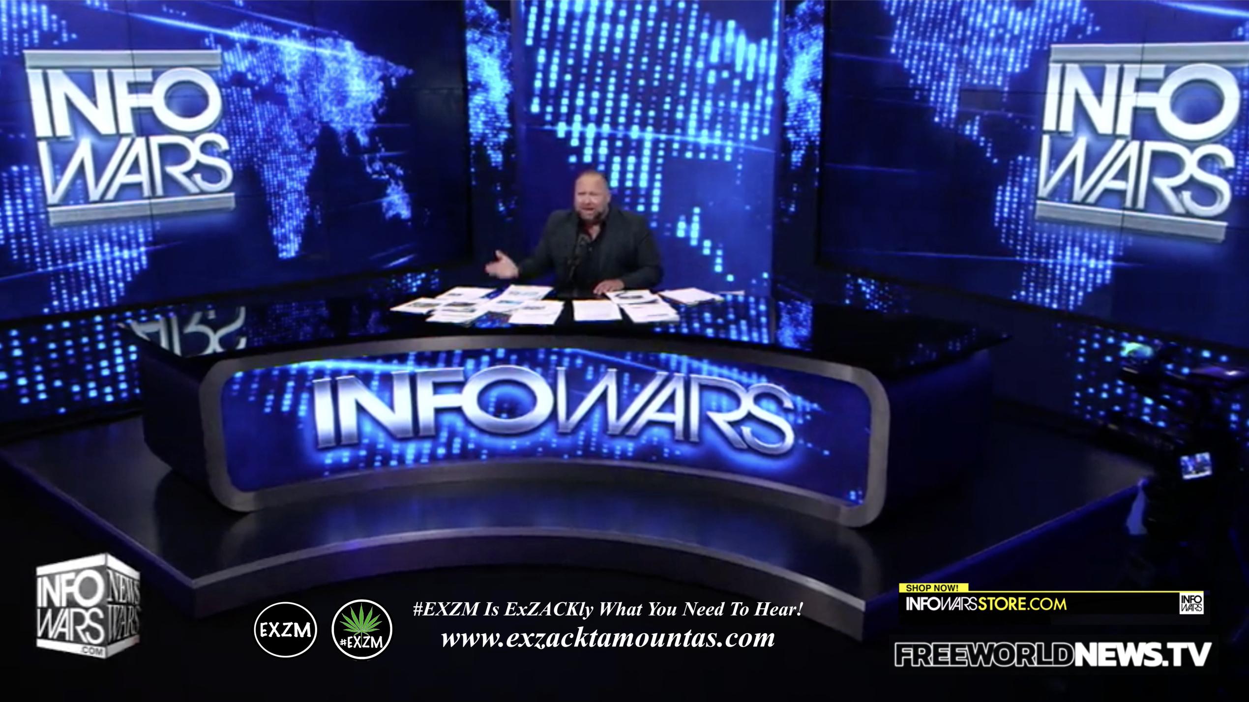 Alex Jones Live In Infowars Studio Free World News TV EXZM Zack Mount July 13th 2021 copy