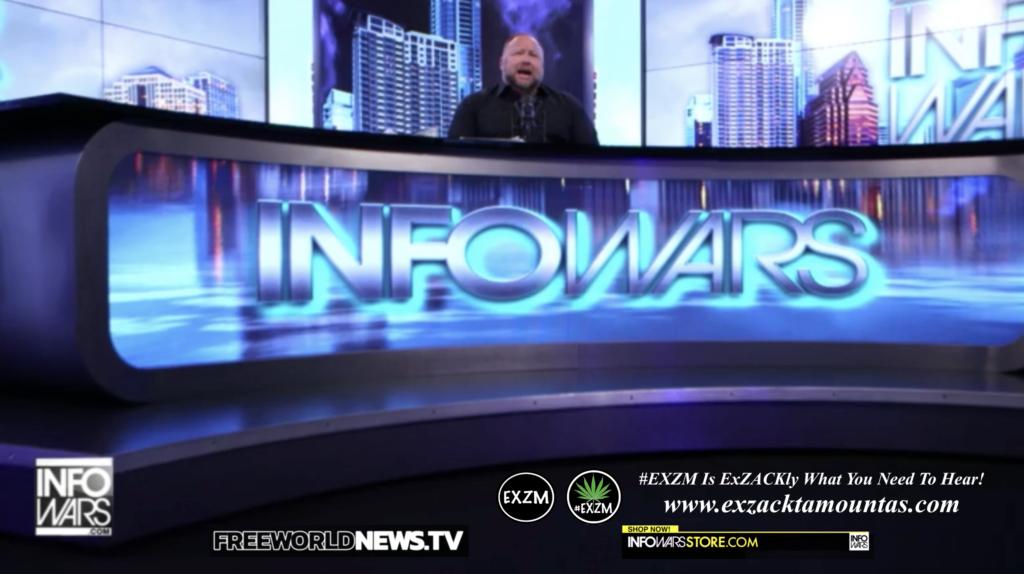 Alex Jones Live In Infowars Studio Free World News TV EXZM Zack Mount July 18th 2021 copy
