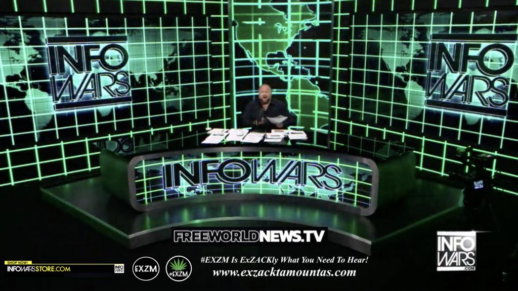 Alex Jones Live In Infowars Studio Free World News TV EXZM Zack Mount July 19th 2021 copy