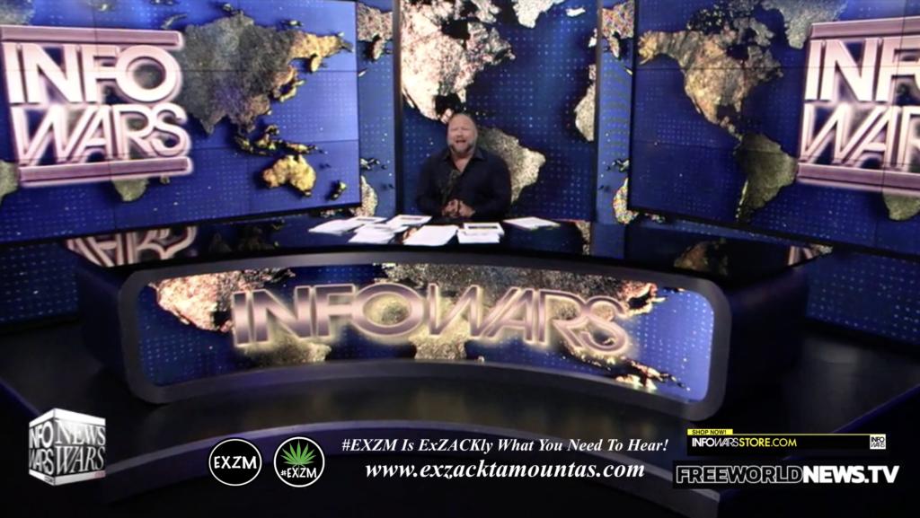 Alex Jones Live In Infowars Studio Free World News TV EXZM Zack Mount July 20th 2021 copy