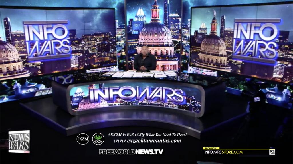Alex Jones Live In Infowars Studio Free World News TV EXZM Zack Mount July 22nd 2021 copy