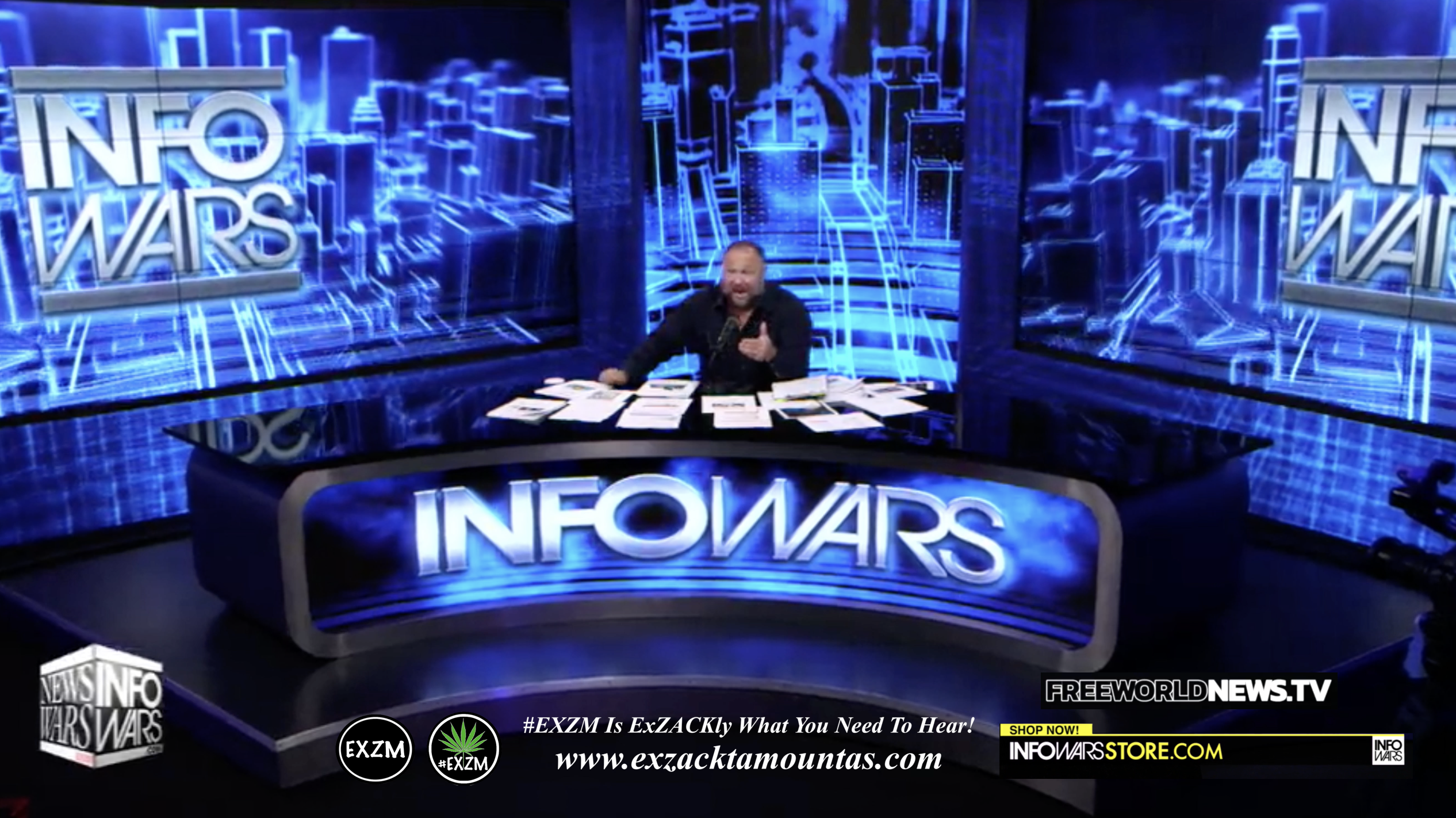 Alex Jones Live In Infowars Studio Free World News TV EXZM Zack Mount July 23rd 2021 copy