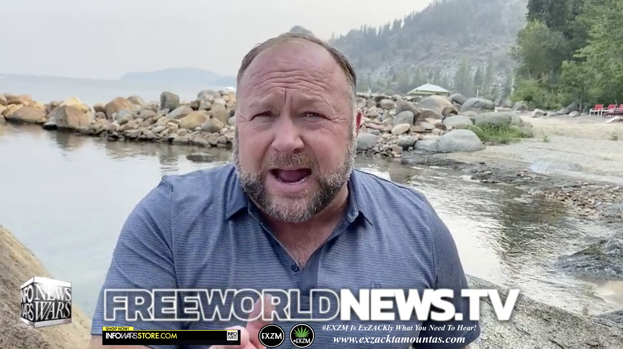 Alex Jones Live In Infowars Studio Free World News TV EXZM Zack Mount July 26th 2021