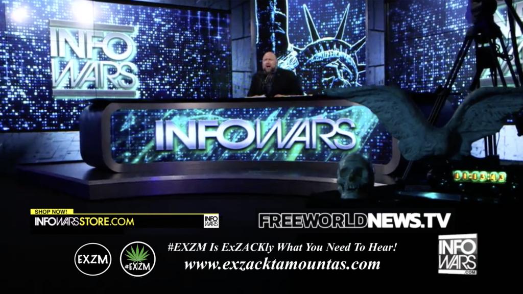 Alex Jones Live In Infowars Studio Free World News TV EXZM Zack Mount July 2nd 2021 copy