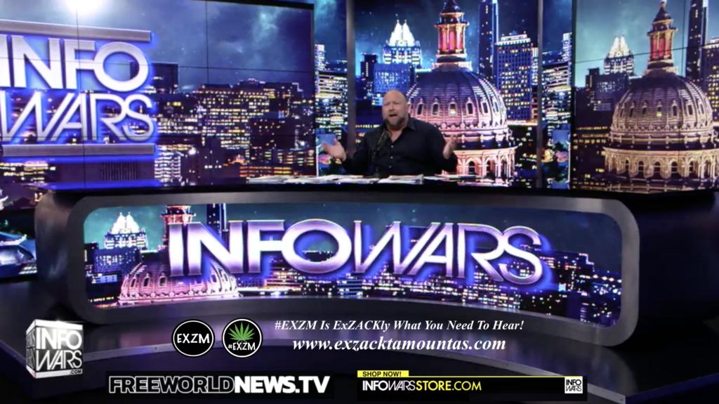 Alex Jones Live In Infowars Studio Free World News TV EXZM Zack Mount July 6th 2021 copy