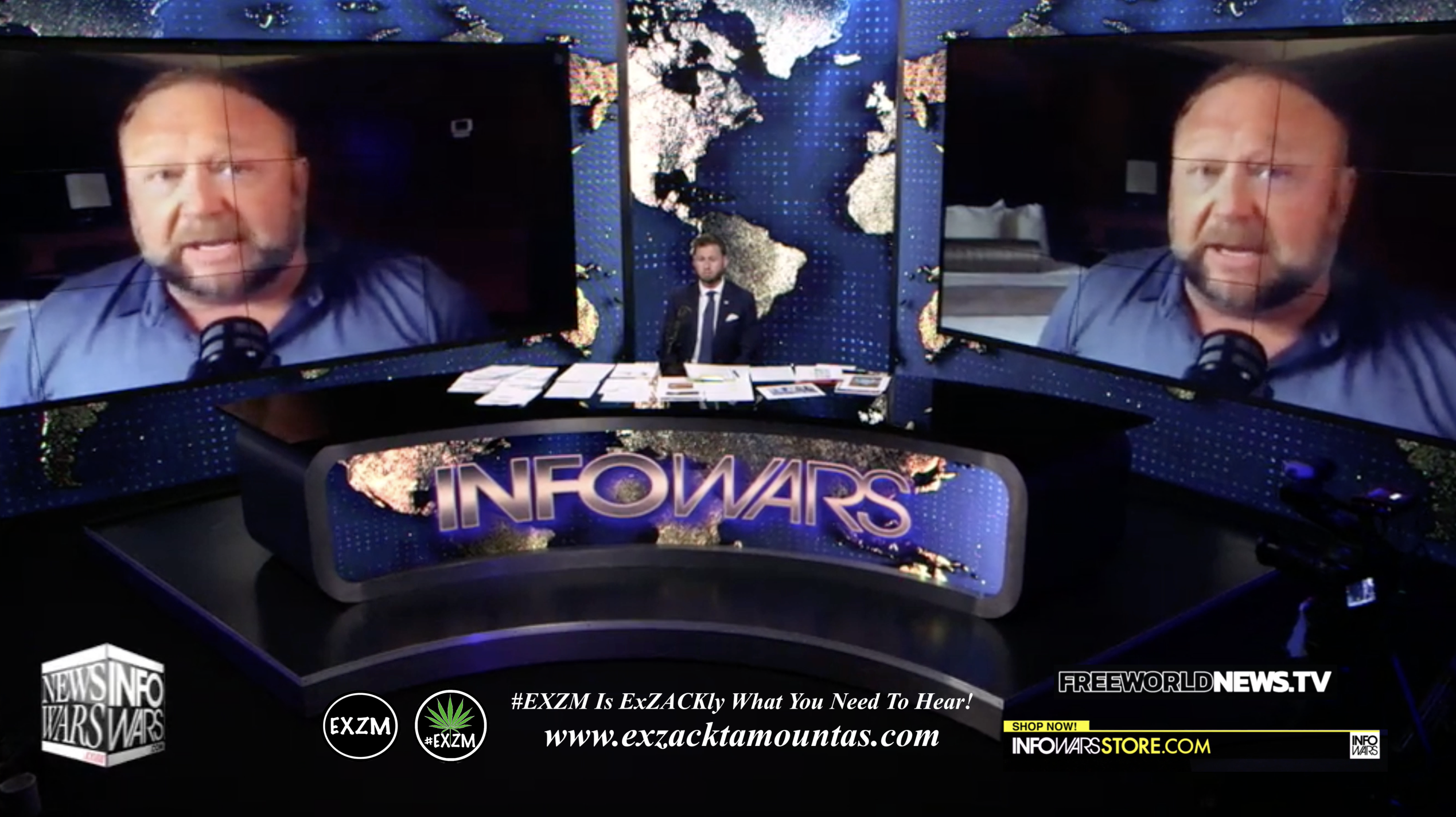 Alex Jones Owen Shroyer Live In Infowars Studio Free World News TV EXZM Zack Mount July 27th 2021 copy