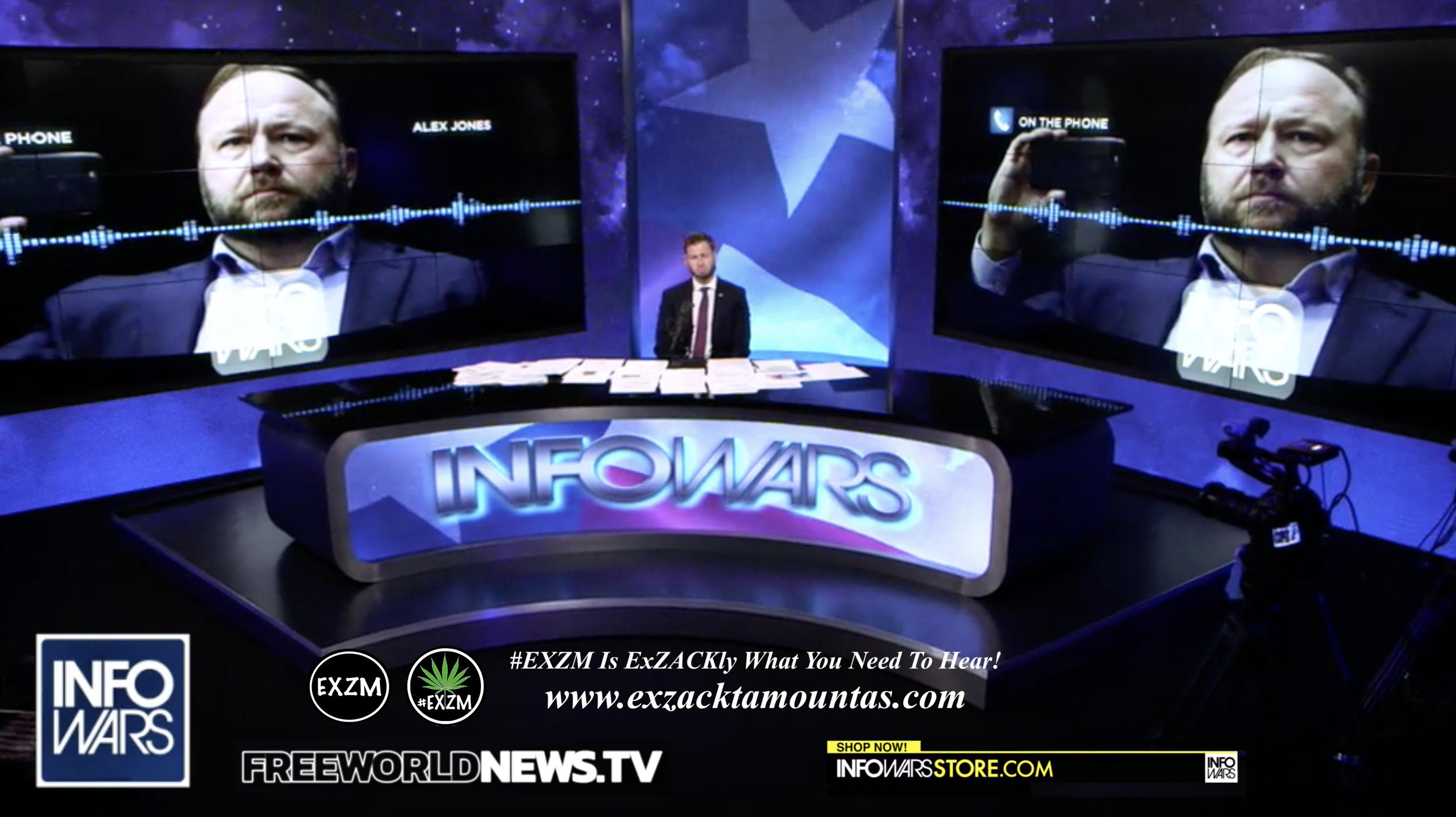 Alex Jones Owen Shroyer Live In Infowars Studio Free World News TV EXZM Zack Mount July 29th 2021