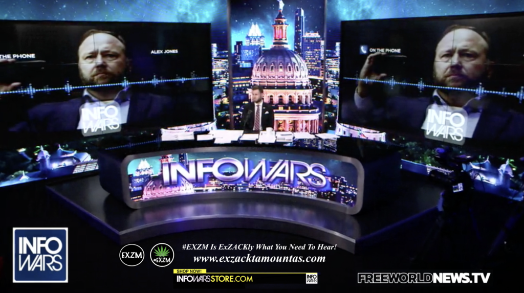 Alex Jones Owen Shroyer Live In Infowars Studio Free World News TV EXZM Zack Mount July 30th 2021 copy