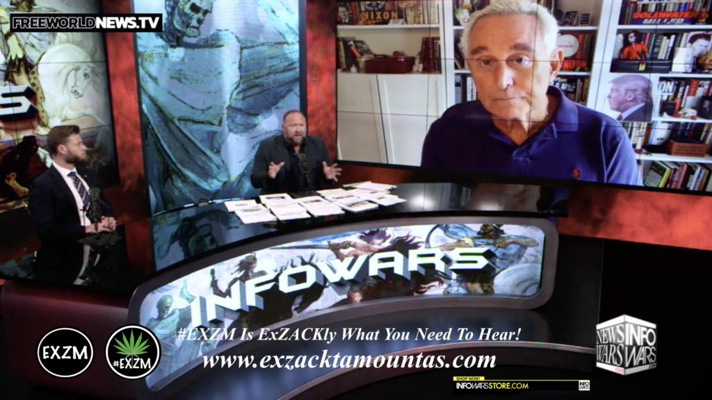 Alex Jones Owen Shroyer Roger Stone Live In Infowars Studio Free World News TV EXZM Zack Mount July 1st 2021 copy