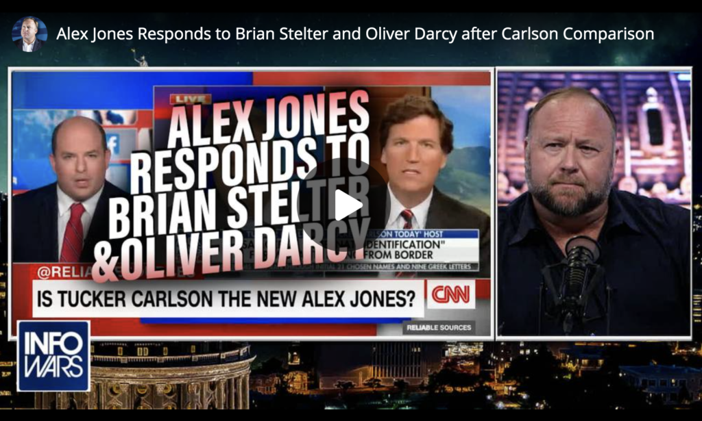 Alex Jones Responds to Brian Stelter and Oliver Darcy after Carlson Comparison EXZM Zack Mount July 6th 2021