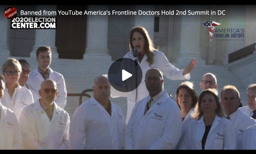 Banned from YouTube Americas Frontline Doctors Hold 2nd Summit in DC EXZM Zack Mount October 19th 2020