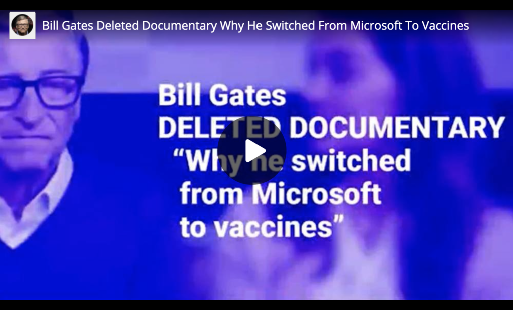 Bill Gates Deleted Documentary Why He Switched From Microsoft To Vaccines EXZM Zack Mount February 15th 2021