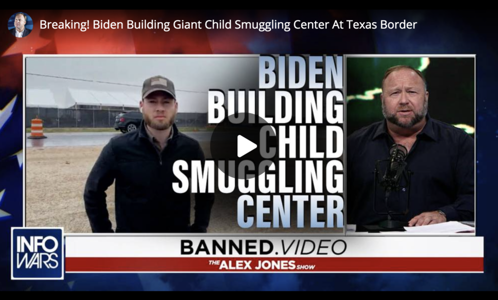 Breaking Biden Building Giant Child Smuggling Center At Texas Border EXZM Zack Mount March 29th 2021