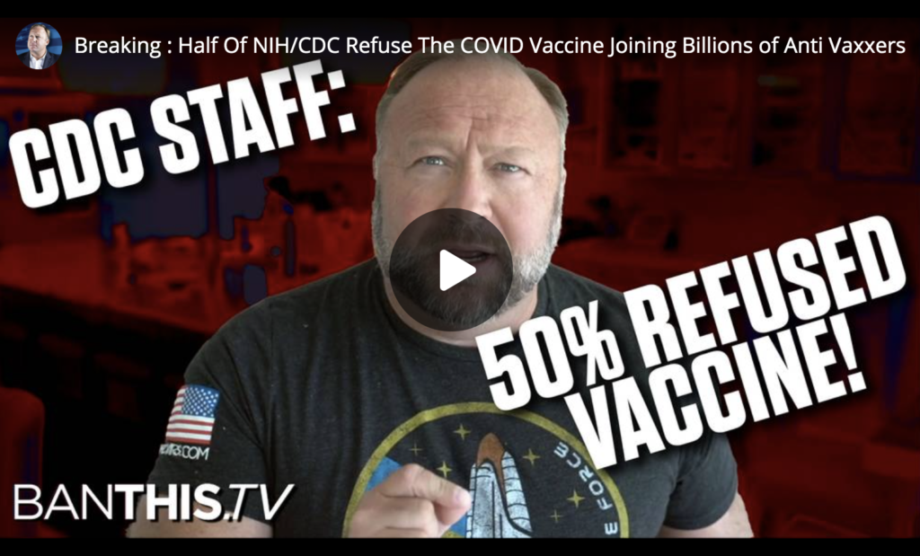 Breaking Half Of NIH CDC Refuse The COVID Vaccine Joining Billions of Anti Vaxxers EXZM Zack Mount May 16th 2021