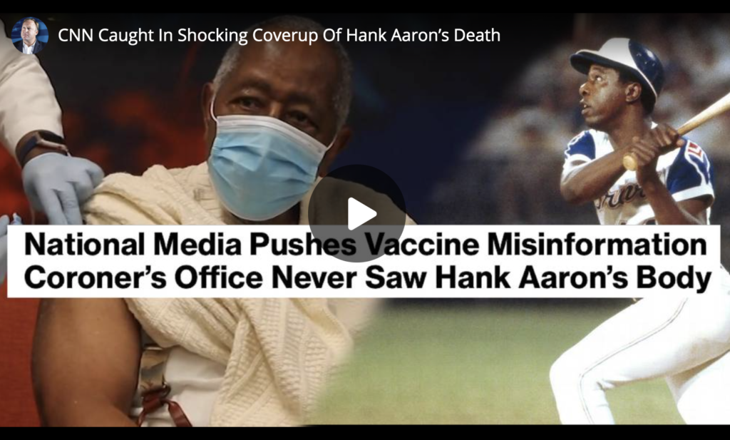 CNN Caught In Shocking Coverup Of Hank Aarons Death EXZM Zack Mount March 30th 2021