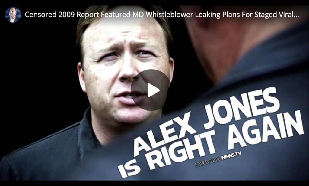 Censored 2009 Report Featured MD Whistleblower Leaking Plans For Staged Viral Release Triggering UN Takeover Depopulation EXZM Zack Mount May 21st 2021