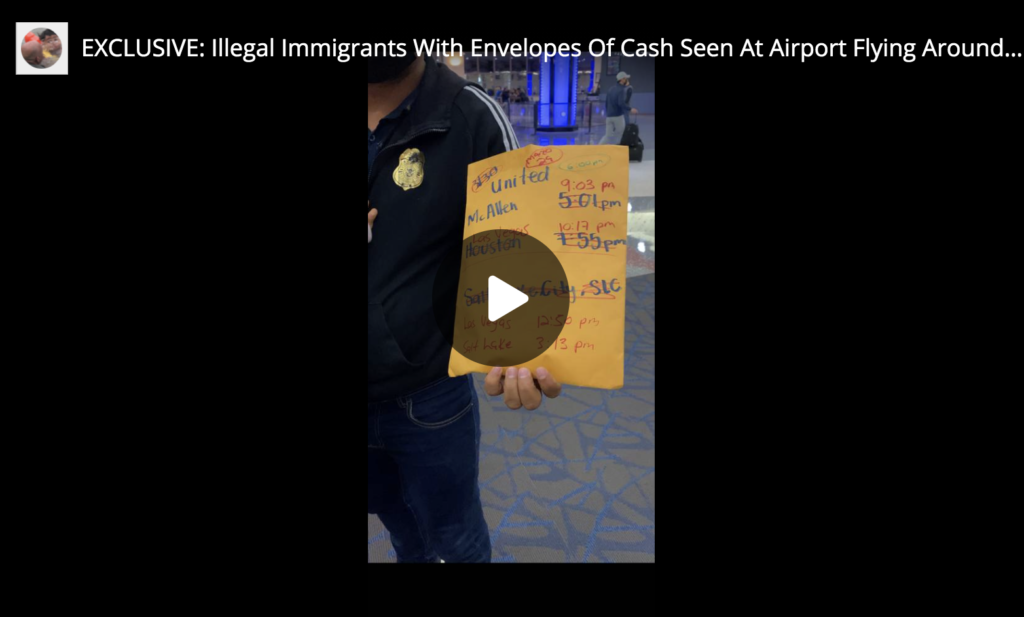 EXCLUSIVE Illegal Immigrants With Envelopes Of Cash Seen At Airport Flying Around US EXZM Zack Mount March 29th 2021
