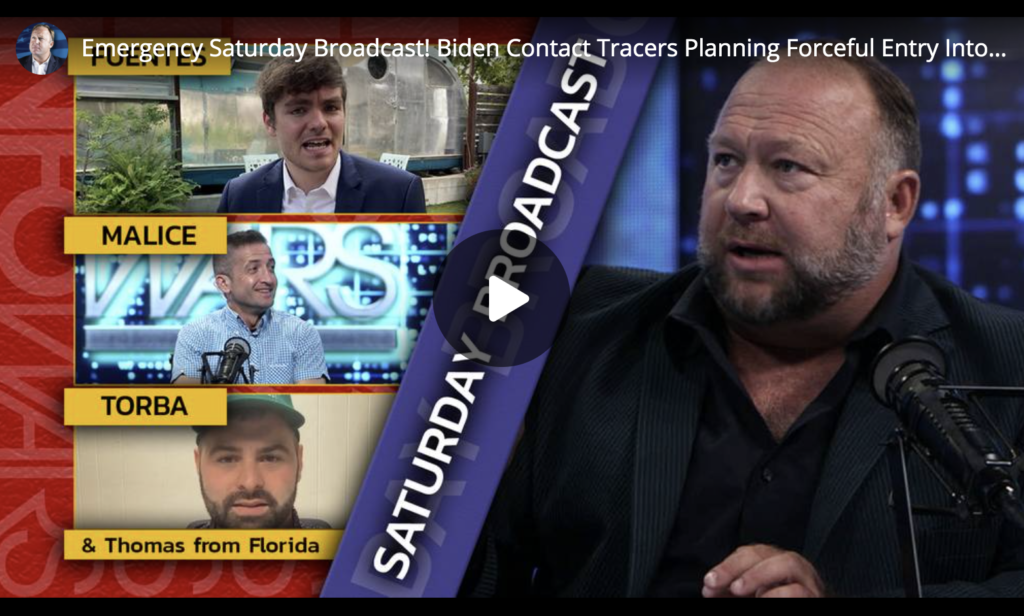 Emergency Saturday Broadcast Biden Contact Tracers Planning Forceful Entry Into American Homes Under Strike Force Plan EXZM Zack Mount July 10th 2021