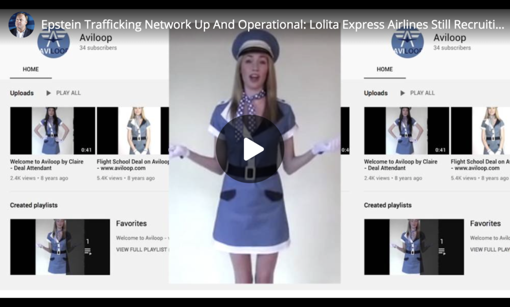 Epstein Trafficking Network Up And Operational Lolita Express Airlines Still Recruiting Young Girls EXZM Zack Mount December 23rd 2019