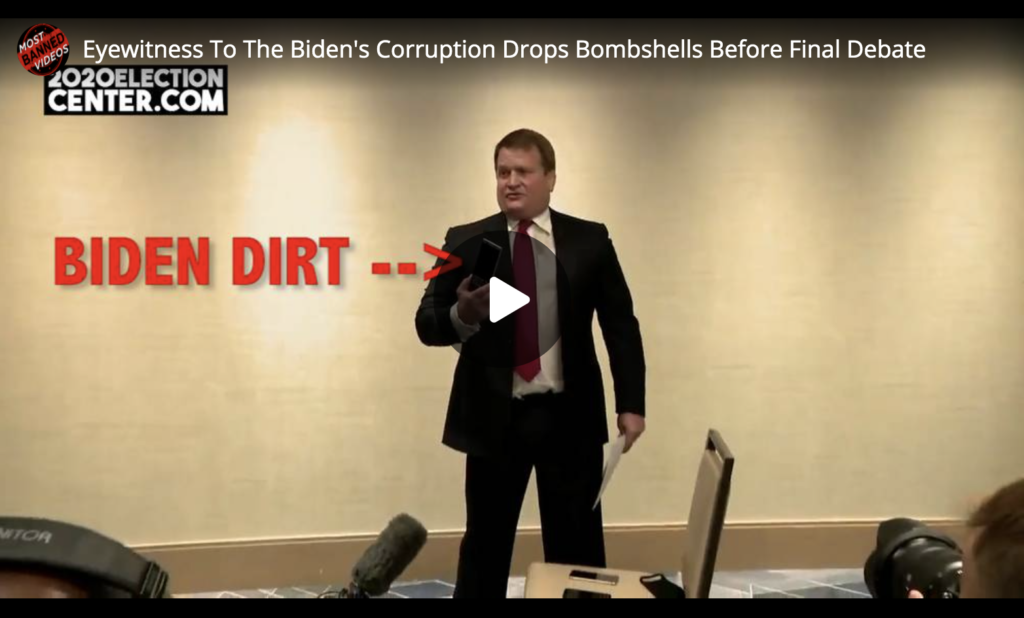 Eyewitness To The Bidens Corruption Drops Bombshells Before Final Debate EXZM Zack Mount October 22nd 2020