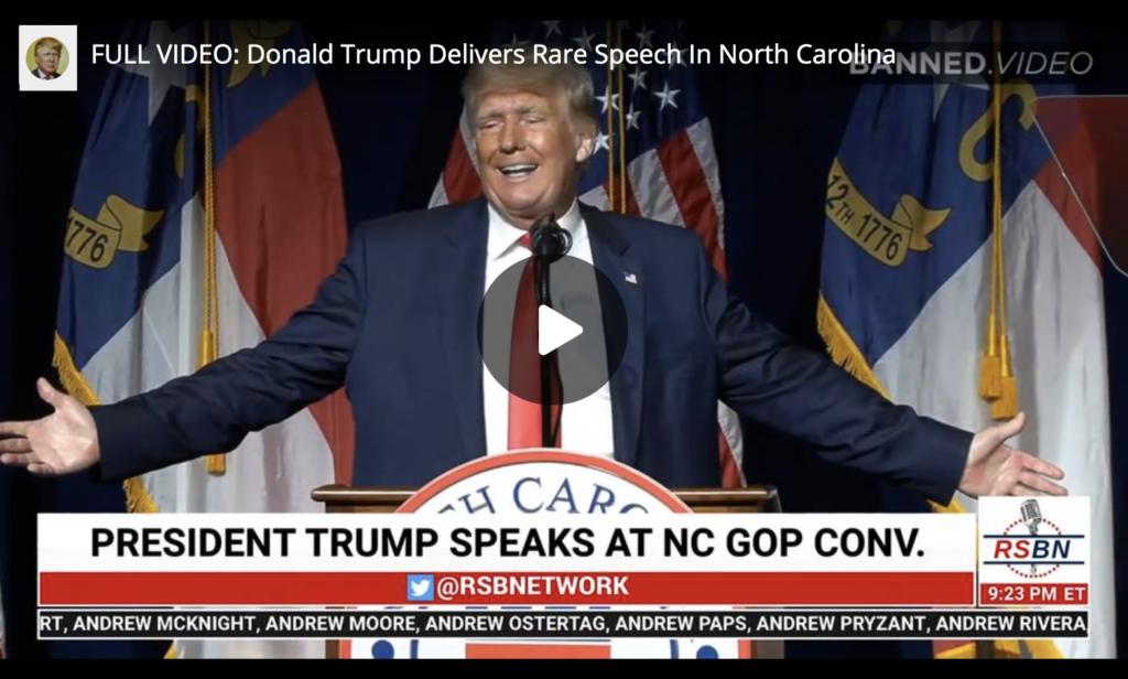 FULL VIDEO Donald Trump Delivers Rare Speech In North Carolina EXZM Zack Mount June 10th 2021