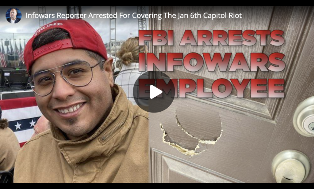 Infowars Reporter Arrested For Covering The Jan 6th Capitol Riot EXZM Zack Mount April 13th 2021
