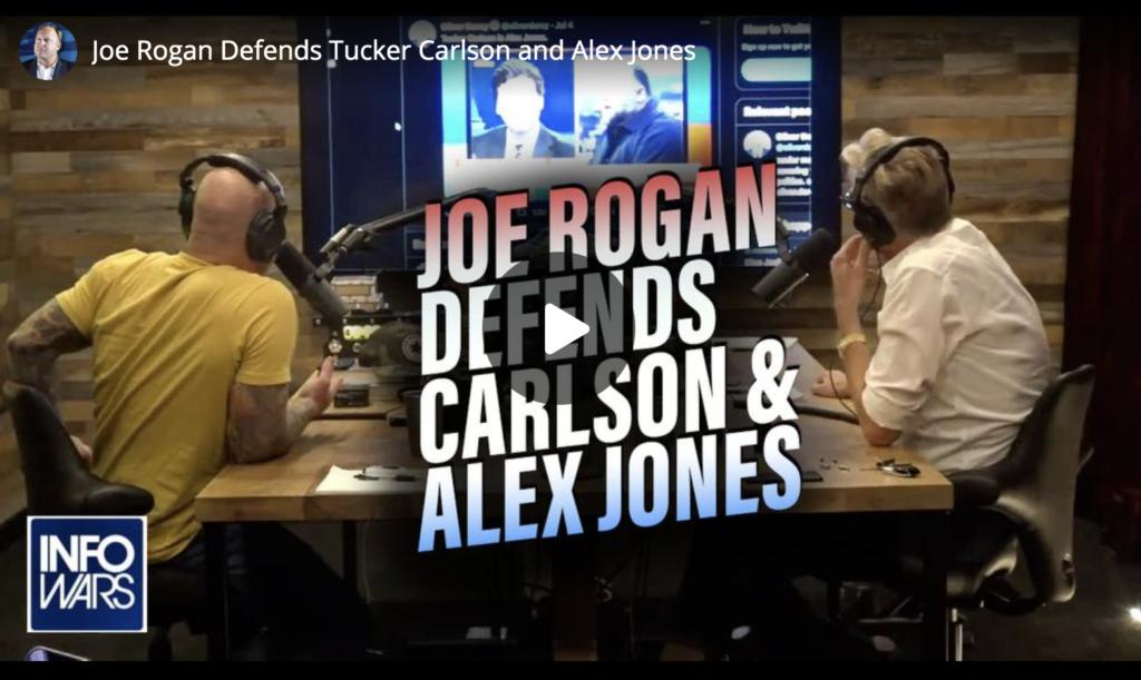 Joe Rogan Defends Tucker Carlson and Alex Jones EXZM Zack Mount July 8th 2021