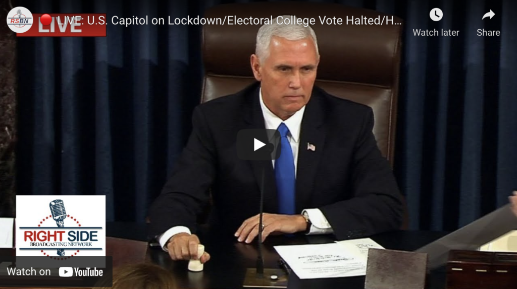 LIVE Electoral College Vote Count Vice President Pence Presides Over Joint Session of Congress EXZM Zack Mount January 6th 2021