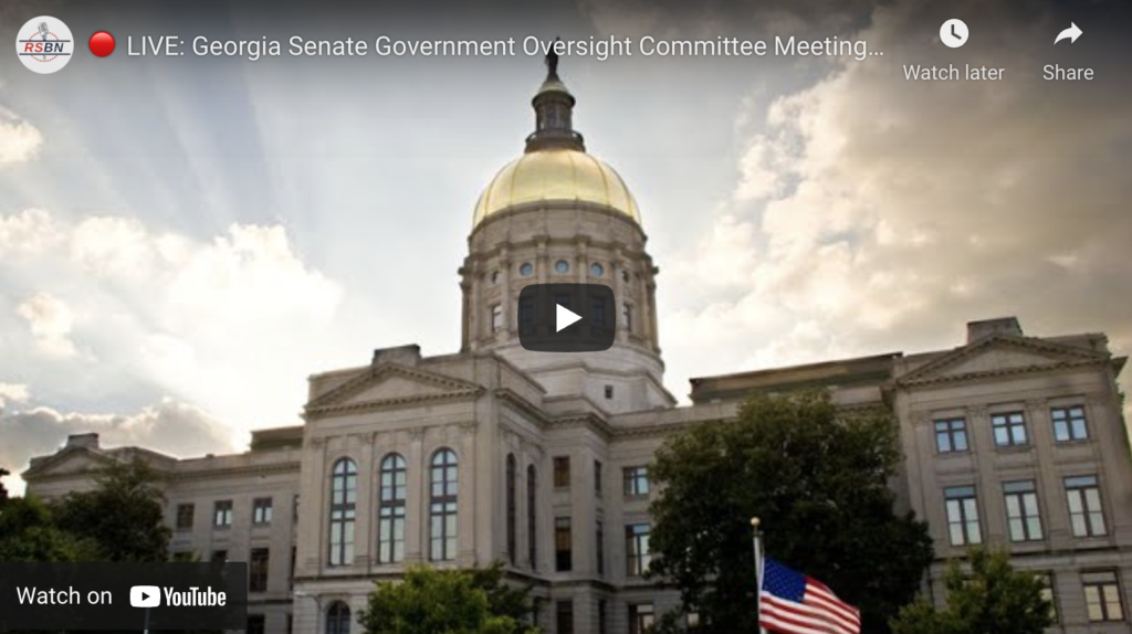 LIVE Georgia Senate Government Oversight Committee Meeting on Election Fraud EXZM Zack Mount December 3rd 2020