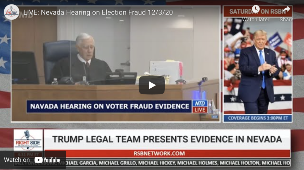LIVE Nevada Hearing on Election Fraud EXZM Zack Mount December 3rd 2020