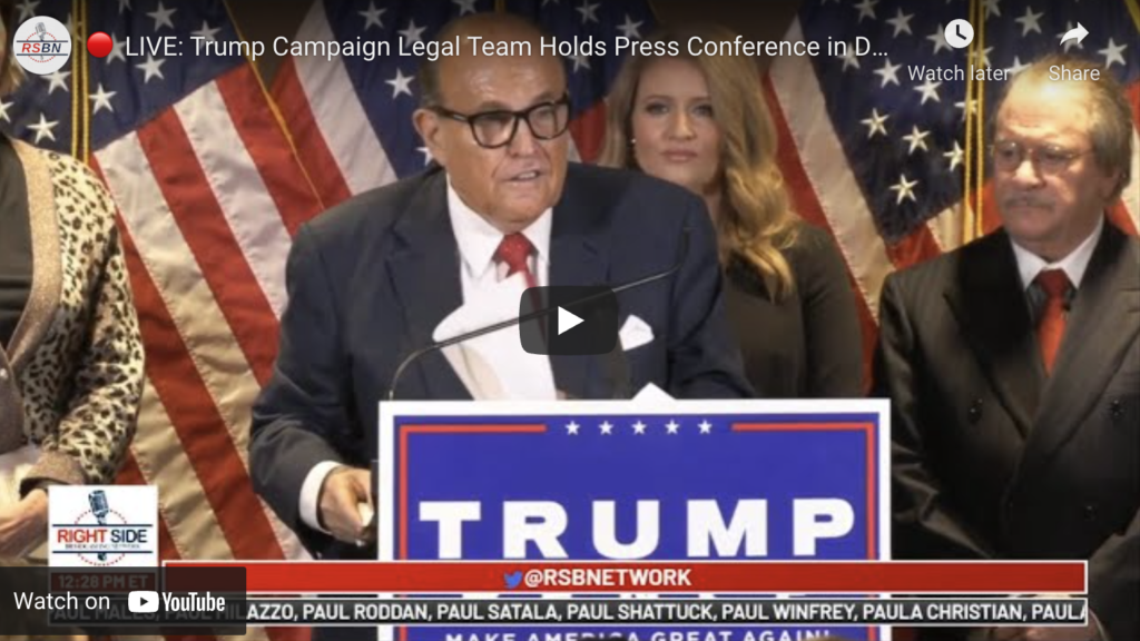 LIVE Trump Campaign Legal Team Holds Press Conference in DC EXZM Zack Mount November 19th 2020