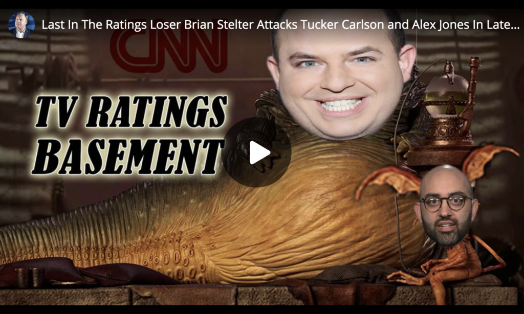 Last In The Ratings Loser Brian Stelter Attacks Tucker Carlson and Alex Jones In Latest Smear EXZM Zack Mount July 4th 2021