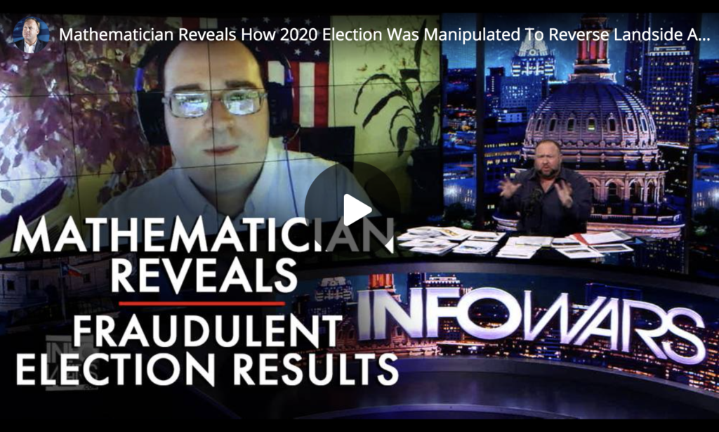 Mathematician Reveals How 2020 Election Was Manipulated To Reverse Landside And Choose Loser EXZM Zack Mount February 12th 2021