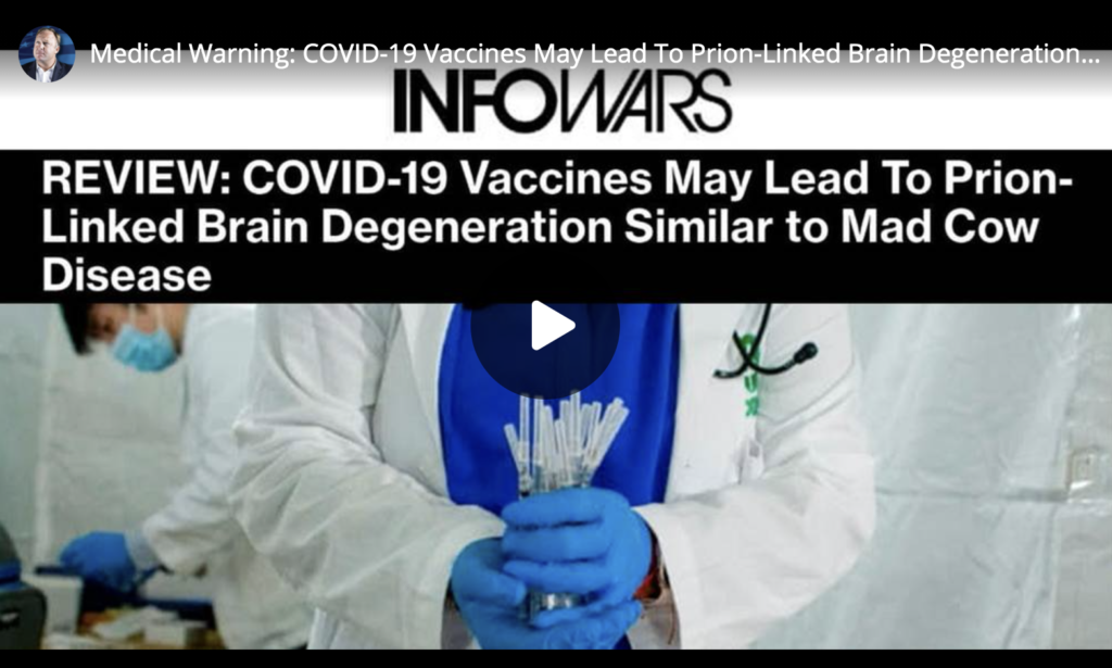 Medical Warning COVID19 Vaccines May Lead To PrionLinked Brain Degeneration Similar to Mad Cow Disease EXZM Zack Mount June 14th 2021