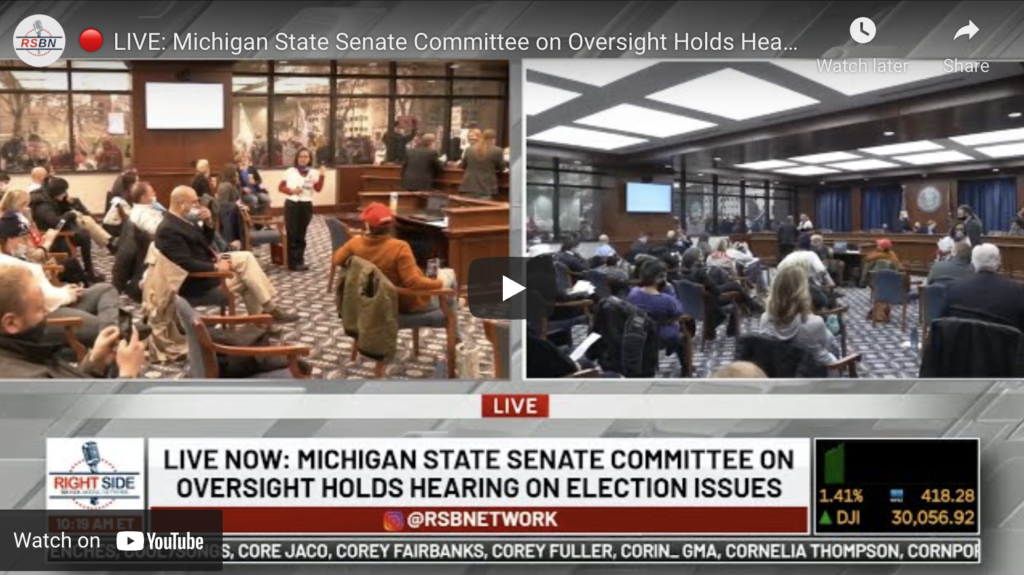 Michigan State Senate Committee on Oversight Holds Hearing on Election Issues EXZM Zack Mount December 1st 2020