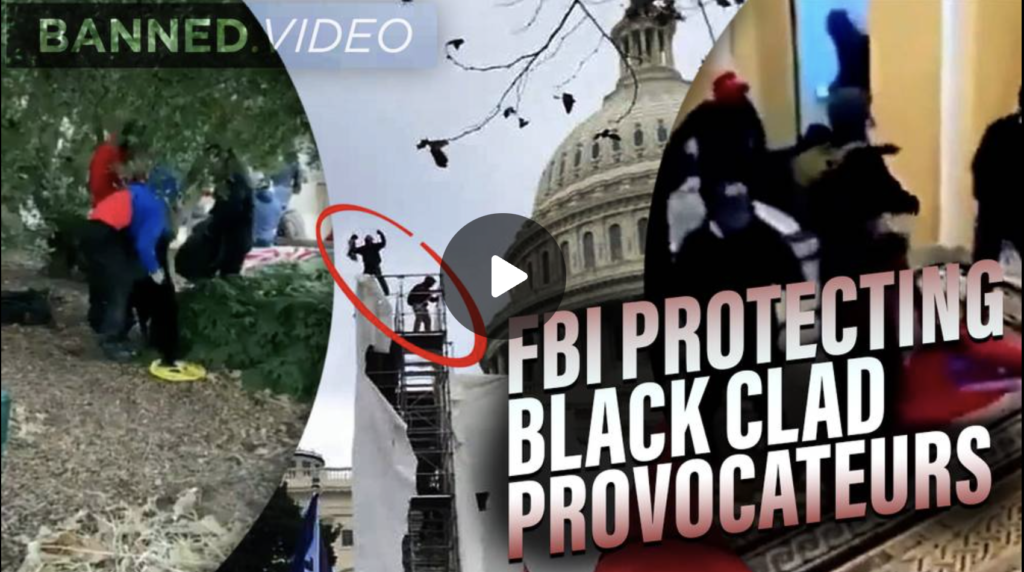 NEW VIDEO FBI Protecting Black Clad Provocateurs Who Led Jan 6th Attack EXZM Zack Mount July 12th 2021