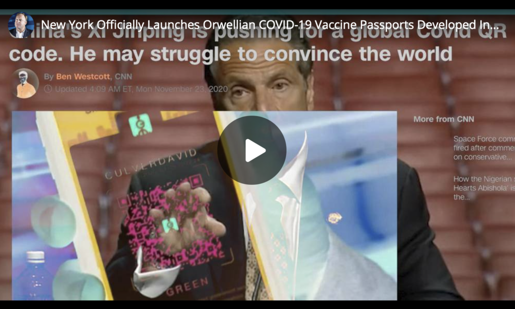 New York Officially Launches Orwellian COVID19 Vaccine Passports Developed In China EXZM Zack Mount May 18th 2021