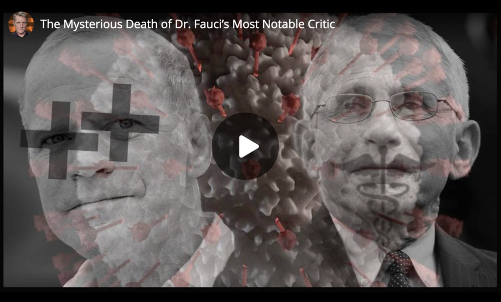 The Mysterious Death of Dr Faucis Most Notable Critic EXZM Zack Mount May 21st 2021