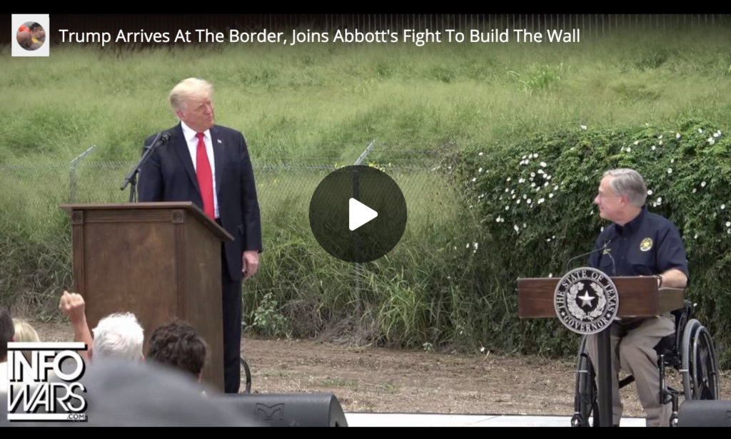 Trump Arrives At The Border Joins Abbotts Fight To Build The Wall EXZM Zack Mount July 1st 2021